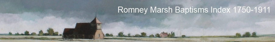 Romney Marsh Baptisms Index Banner